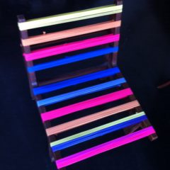 Chair in neon colours
