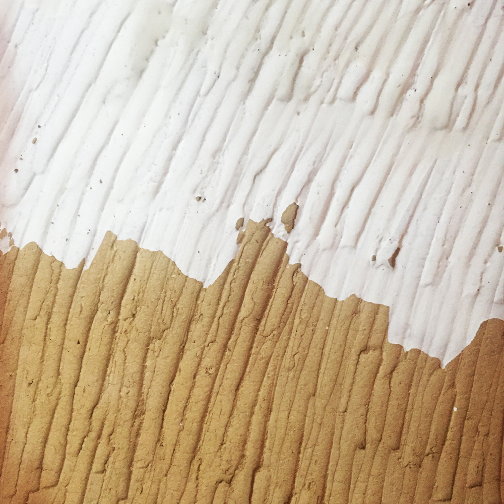 surface pattern of pottery, brown and whiyte