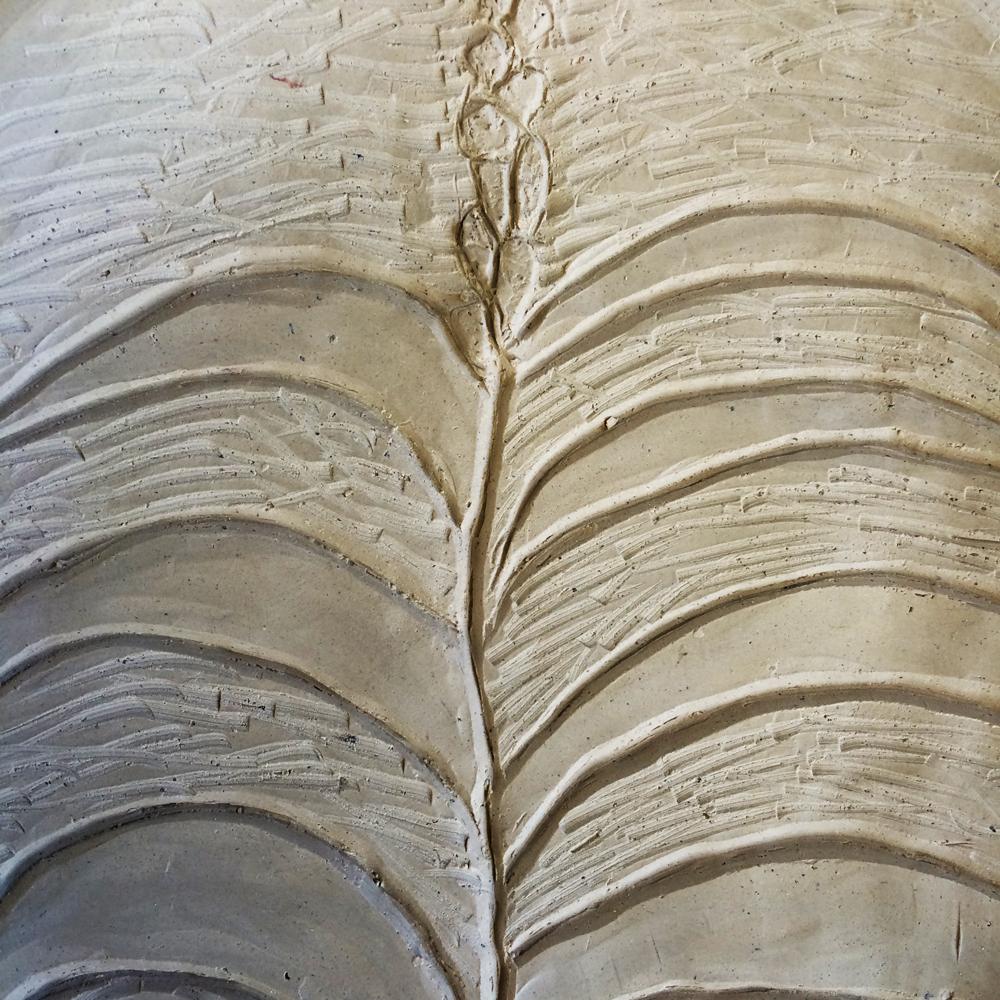leaf surface design on ceramics