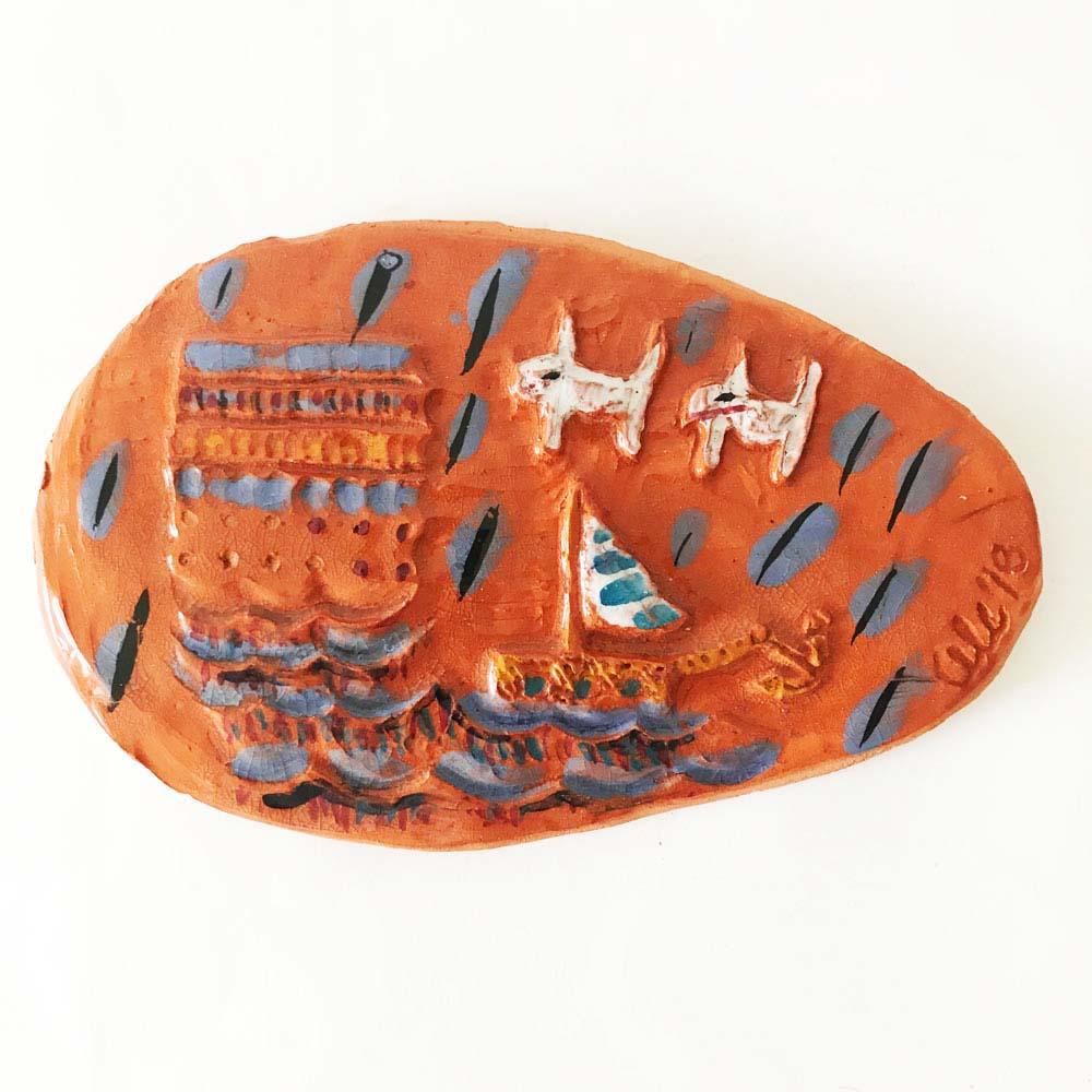 Amazonian shield made of ceramics