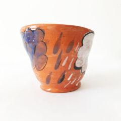 Ceramic bowl with rain drops